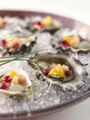 Oysters-with-Pomegranate-Citrus-Relish